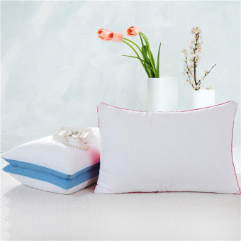 Feather velvet hotel neck pillow big pillow embroidered pillow