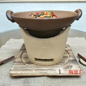 Features earthenware casserole stew pot ceramic soup fire-resistanthigh temperature tangbao home unglazed clay pot casserole pot