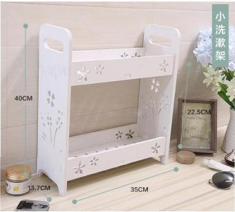 Floor cosmetic product storage rack storage cabinet shelf