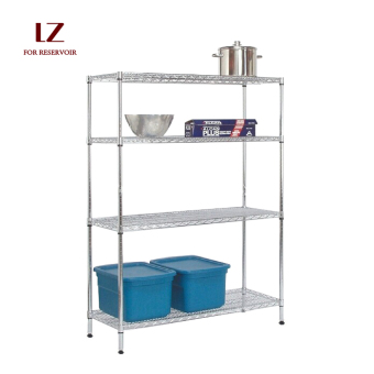 Floor stainless steel color multi-functional shelf storage rack