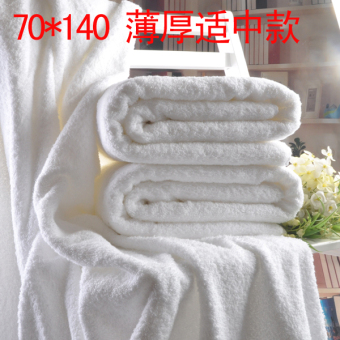 Furijieyu cotton adult thick soft white bath towel