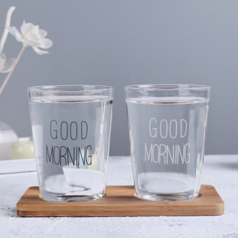 Glass couple cups creative Japanese minimalist transparent cups cup