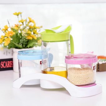 High-grade glass condiment bottles seasoning box