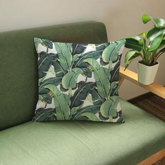 Hot banana leaf plant decorative bedside cushion cover pillow
