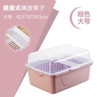 Kitchen drain water dish rack with lid plastic cupboard dishes tableware storage box put dish rack dripping dishes glove rack