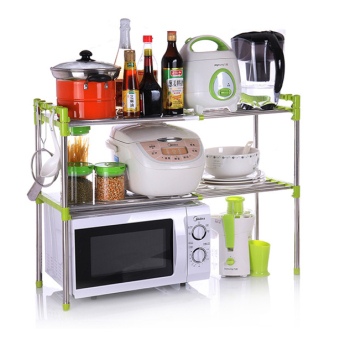 Kitchen stainless steel can be retractable microwave oven rack