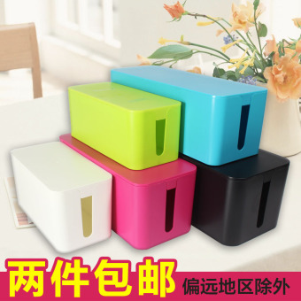 Large No. Wire storage box IKEA Power Cable plug strip line boardstorage box finishing set line box management line is