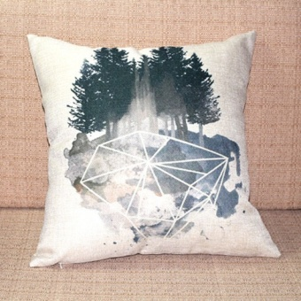 Linen Watercolor Painting Series cushion pillow cover