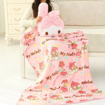 Melody cute cherry pillow blanket