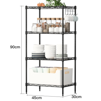 Metal bedroom floor storage rack kitchen shelf