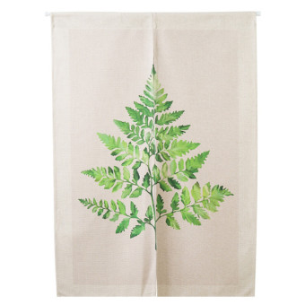 Nordic wind cotton linen trade plants leaf curtain door curtain