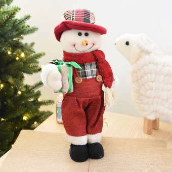 Nuo 36cm elderly snowman elk doll Christmas doll