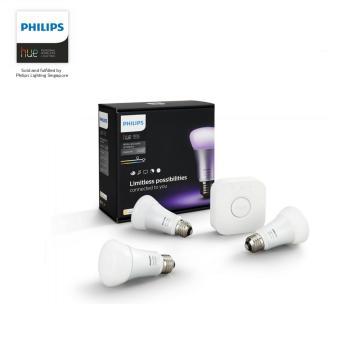 Philips Hue White and Colour Wireless Ambiance Starter Kit (3 bulbs + 1 bridge)