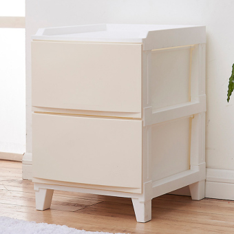 Plastic living room bedside assembled toys finishing cabinet drawer storage cabinets