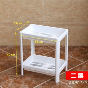 Plastic multi-layer organizing storage rack bathroom shelf
