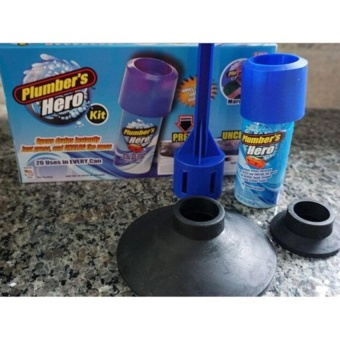 Plumbers Hero Drain Unclogging Kit Sewer Drainage (Blue) - intl