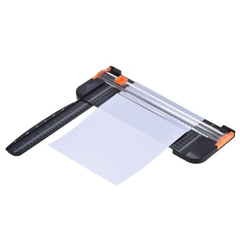 Portable A4 Paper Trimmer Cutters Guillotine with Pull-out Ruler for Photo Paper Labels Cutting Black - intl