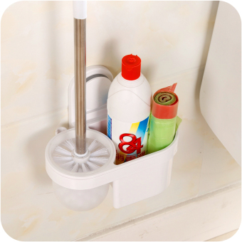 Punched suction wall hangers-bathroom brush