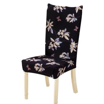 Removable Conjoined Stretchy Floral Home Stool Chair Seat Cover(2#) - intl