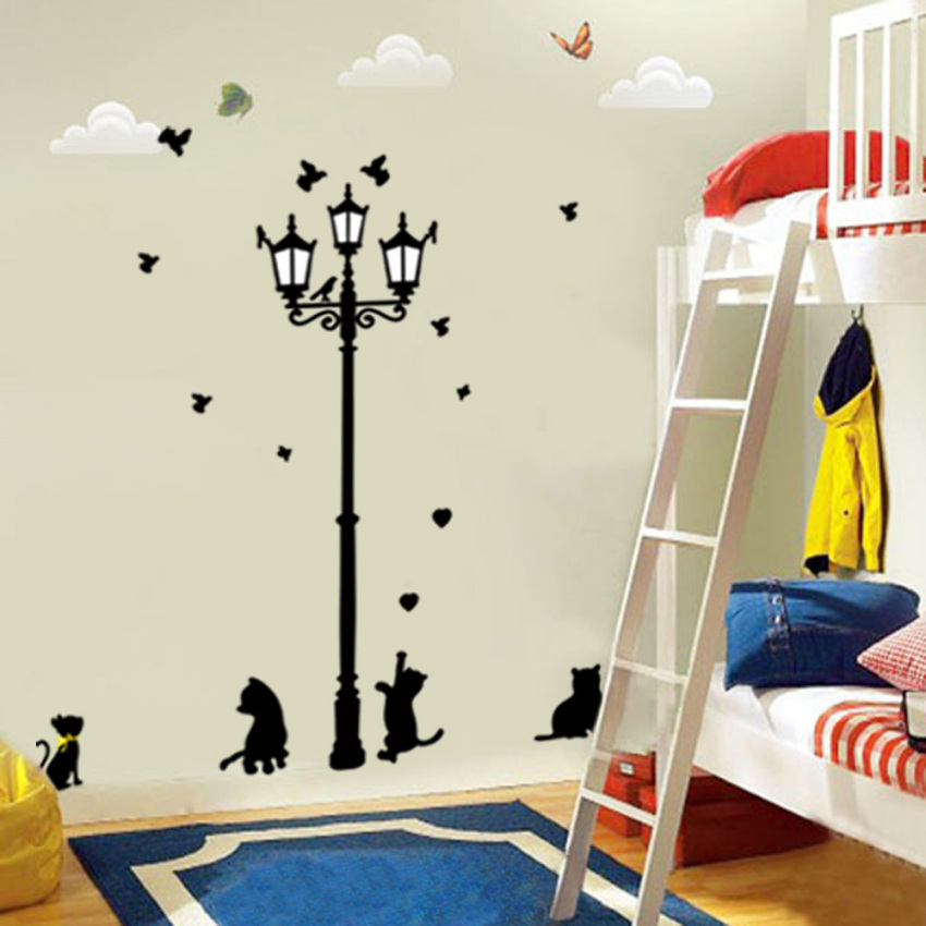 Channy flower girl removable wall sticker vinyl decal for Room decor lazada