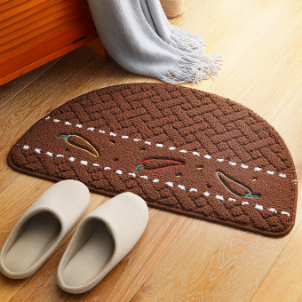 Round dust door entrance slip mat rub foot pad