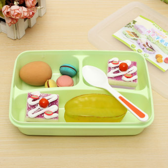 separated utensils food storage container microwave oven bento lunch box sp. Black Bedroom Furniture Sets. Home Design Ideas