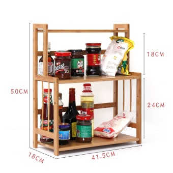 Shelf floor multi-layer bamboo storage rack