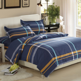 Single or double bed twill Student Dormitory cotton linen
