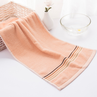 Soft box striped soft color strong absorbent face towel