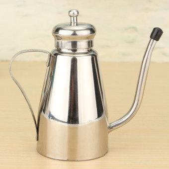 stainless steel olive oil can drizzler vinegar dispenser jar kitchen oil bottle light small. Black Bedroom Furniture Sets. Home Design Ideas