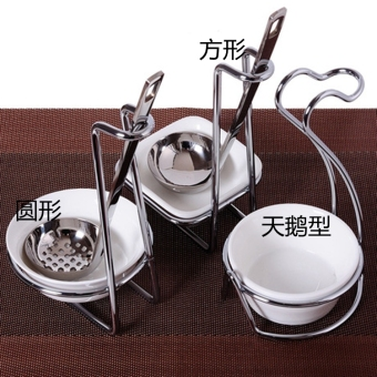 Stainless steel shell soup ladel rack