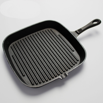 Striped Frying Pan cast iron pot