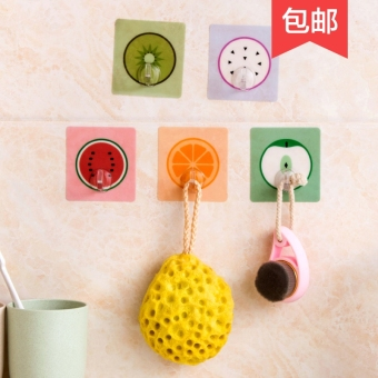 Strong bathroom traceless nailless stick hook viscose adhesive hook