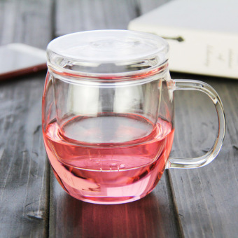 Sulfur fragrant New Heat-resistant glass tea three cups cup
