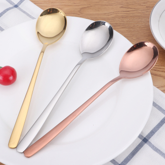 Titanium long-handled spoon stainless steel spoon