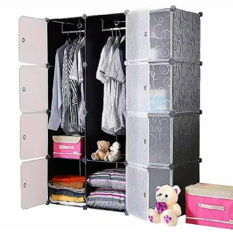 Tupper Cabinet Elegant Black 12 Cubes Classic Collection WardrobeOrganizer