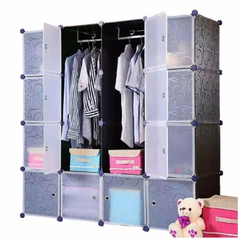 Tupper Cabinet Elegant Black 16 Cubes Classic Collection WardrobeOrganizer
