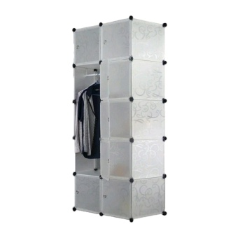 Tupper Cabinet Elegant White 10 Cubes Beauty Collection WardrobeOrganizer