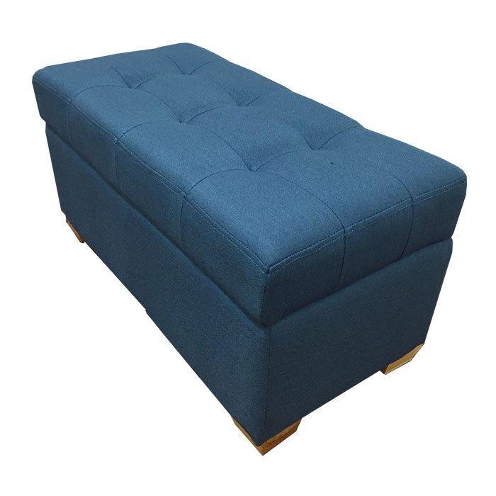 W01 Canvas Wood Storage Ottoman Medium Blue Lazada Singapore - P01 PU Foldable Storage Ottoman (Large) - Black - Singapore Best