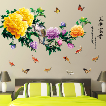 Warm living room wallpaper self-adhesive wall stickers room wall stickers