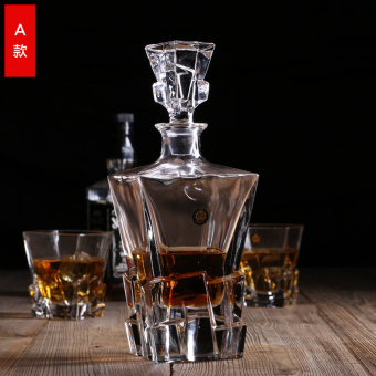Z-Shine Lead-Free Crystal Glass Whiskey Wine Bottle Jiuzun Hangover Is Home Jug Wine