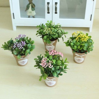 Zakka rustic American desktop small pot plant imitation flowers