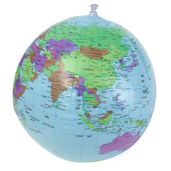 40cm Inflatable World Earth Globe Atlas Map Beach Ball GeographyEducation Toy