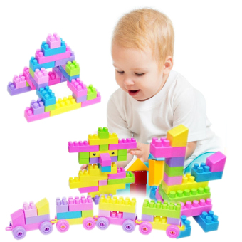 46Pcs Plastic Children Kid Puzzle Educational Building Blocks Bricks Toy
