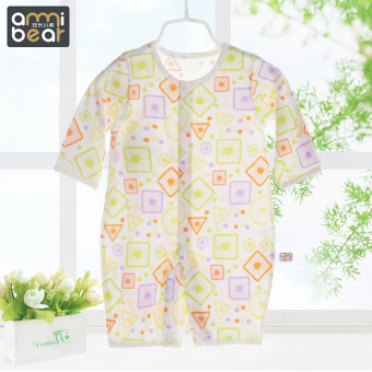 Anmi Bear summer male newborns one-piece romper pajamas