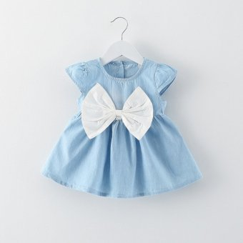 Baby Girl Summer Fashion Dress (White) (EXPORT) - Intl
