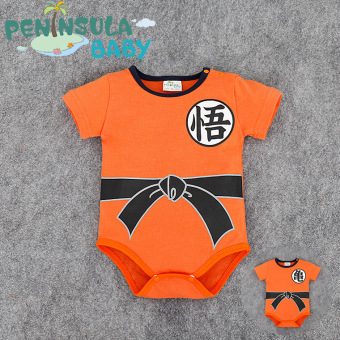 Baby romper summer models 0-3-6-9-12 a month Wu word male baby Siamese clothes solid triangle cotton fashion tide