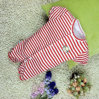 Baby Striped short-sleeved climbing clothes romper