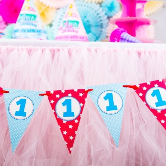 Baobao birthday party anniversery decorative flag