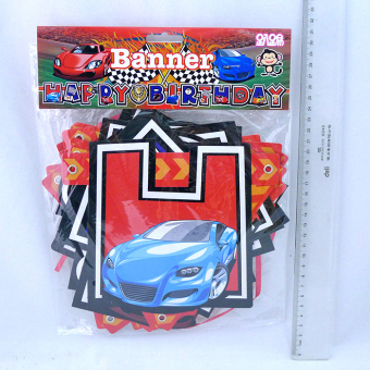 Birthday t88003 race car birthday banner party pendant